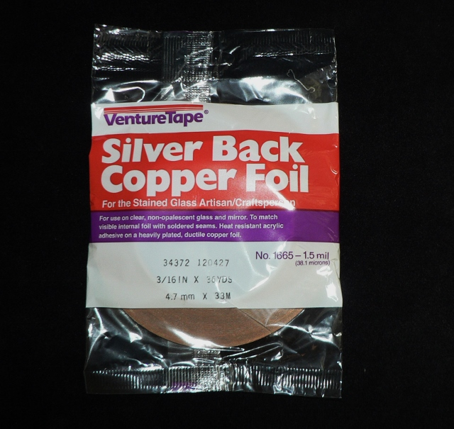 3/16″ (4.7mm) Silver Back Copper Foil
