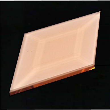 1 3/4″ X 3″ (45mm X 76mm) Peach Diamond Bevel