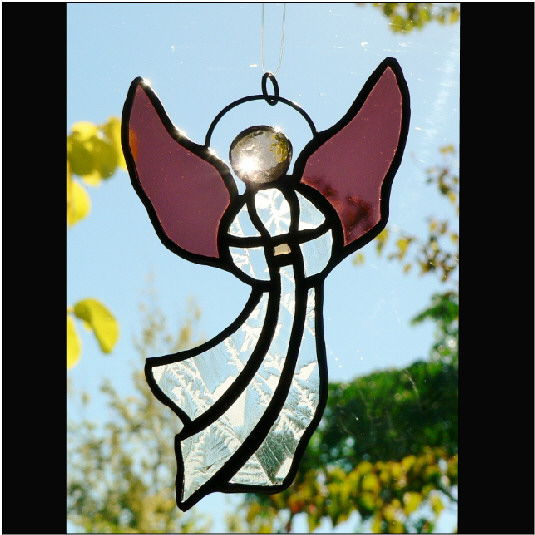 #117 Stained Glass Angel