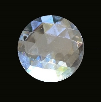 40mm Round Faceted Jewel – Clear Crystal