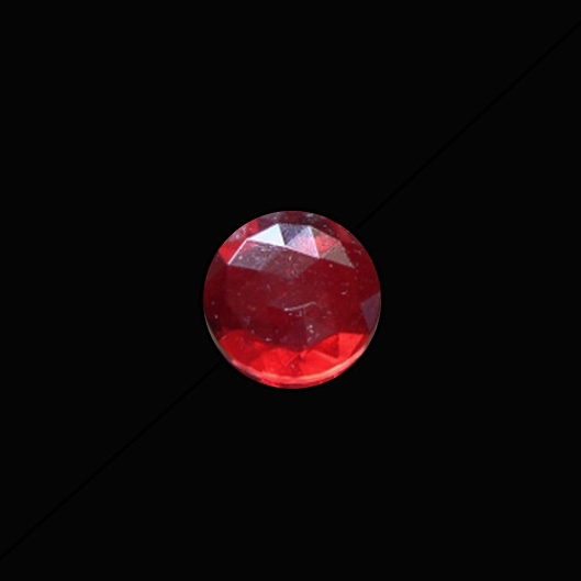 15mm Round Faceted Jewel -Red