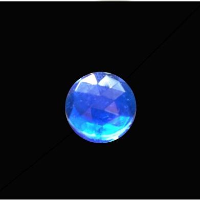 15mm Round Faceted Jewel – Dark Blue