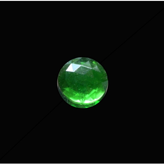 15mm Round Faceted Jewel – Green