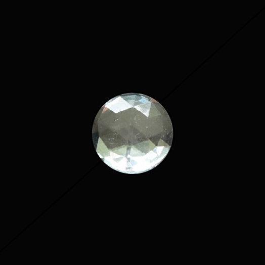 15mm Round Faceted Jewel – Clear Crystal