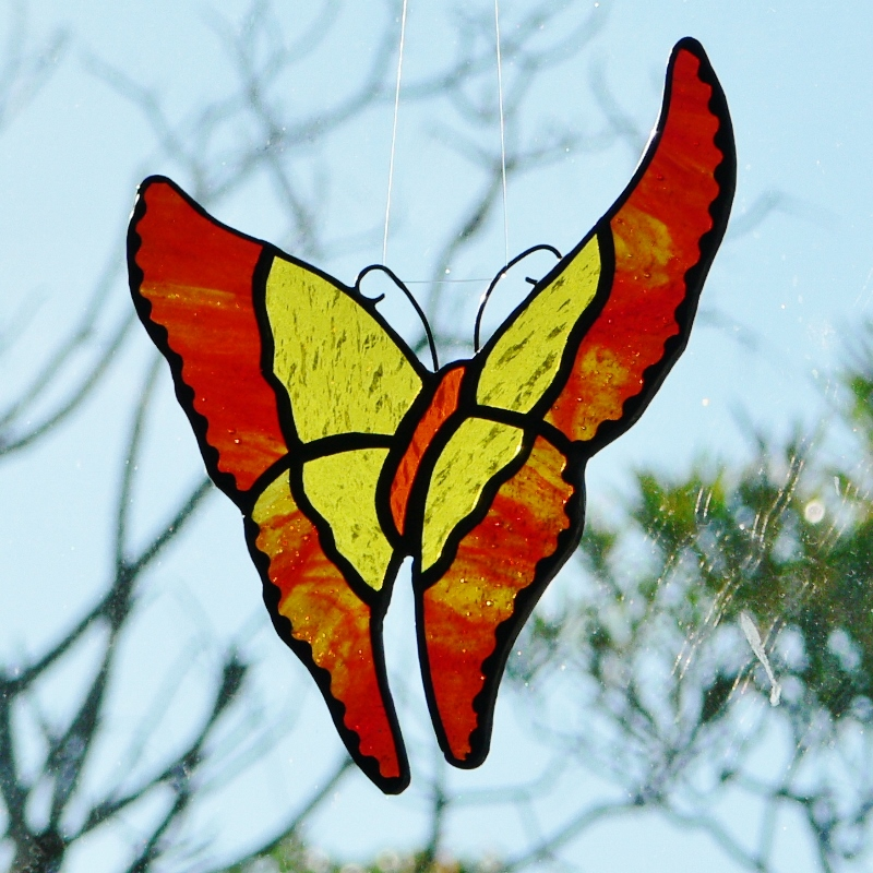 Butterfly – Red, Orange & Yellow