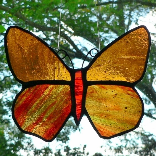 Butterfly – Red & Amber