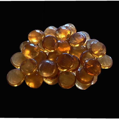 20mm Glass Nuggets Amber