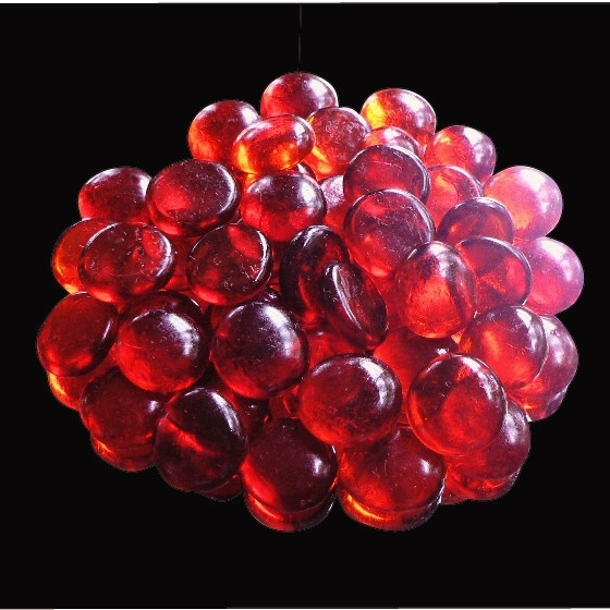 20mm Glass Nuggets Cherry Red