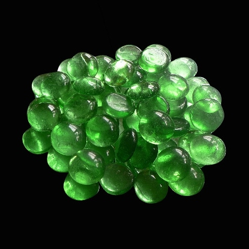 20mm Glass Nuggets Light Green