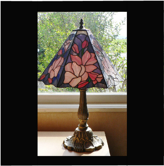 Pink Magnolia Table Lamp