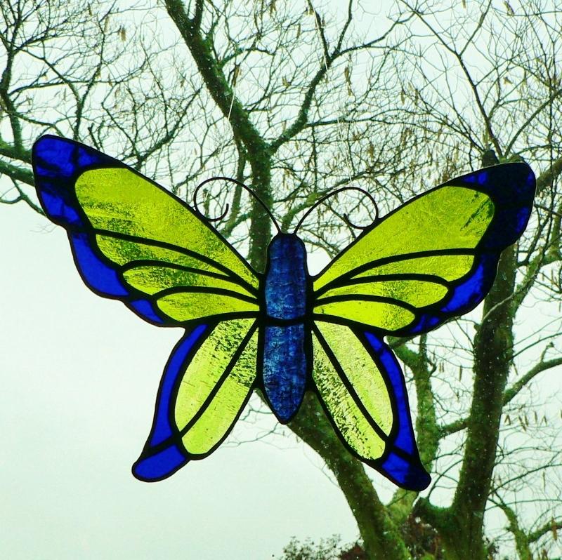 Butterfly – Cobalt Blue & Chartreuse