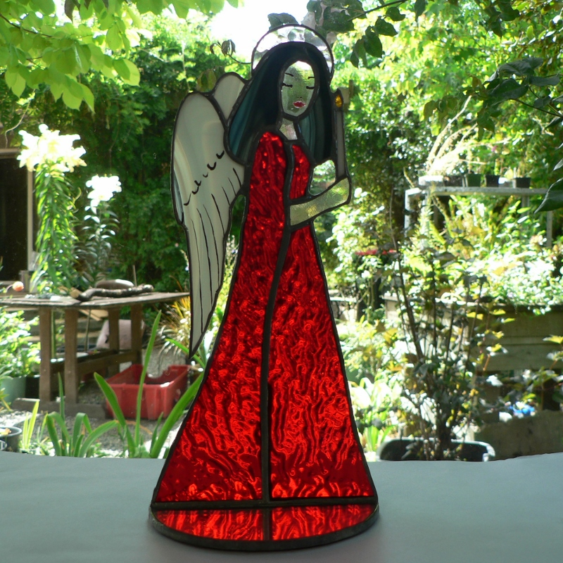 #110 Stained Glass Angel