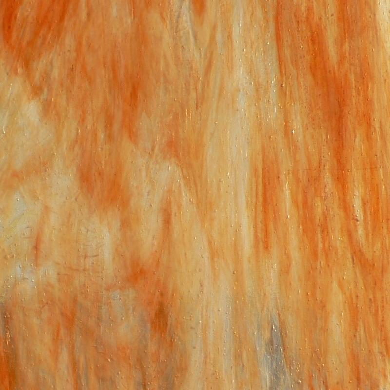 ARM081 Orange / Clear / White Wispy