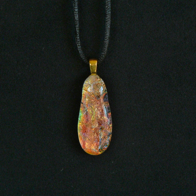 Dichroic Glass Pendant – Fire & Ice