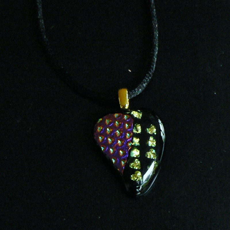 Dichroic Glass Pendant – Heart Of Hearts
