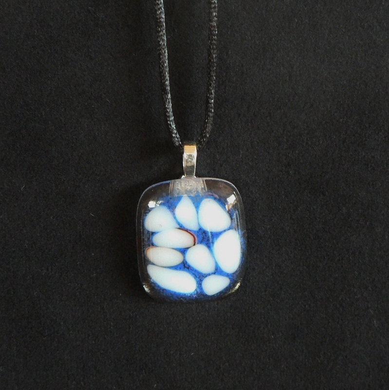 Fused Glass Pendant – Floating Pebbles