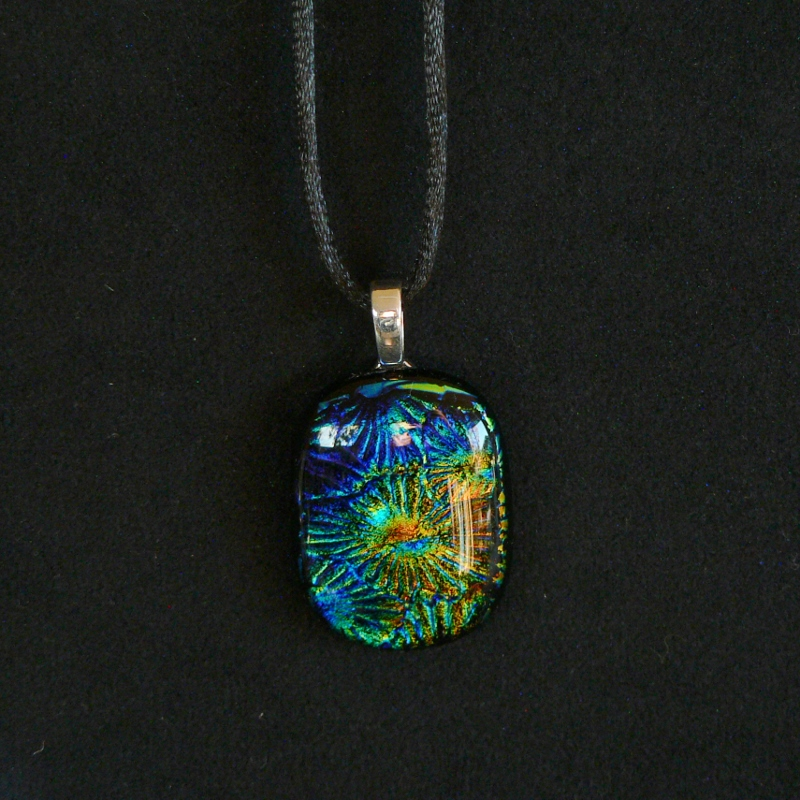 Dichroic Glass Pendant – Fireworks