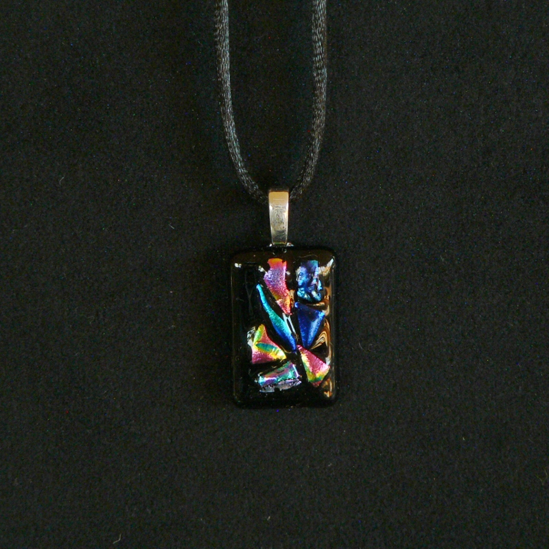 Dichroic Glass Pendant – Speckles