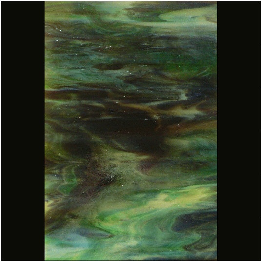 PUPWO61 Green / Brown / Crystal Opal